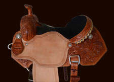 Libbey Hurley Halfbreed Barrel Saddle with Sting Ray/Black Suede Padded Seat